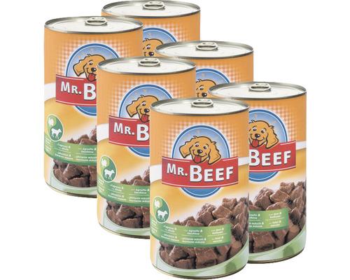 Aliment pour chien à l''agneau et au dindon Mr. Beef 1200 g boîte