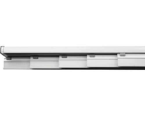 Rail pour panneau japonais kit complet cinq voies blanc 280cm