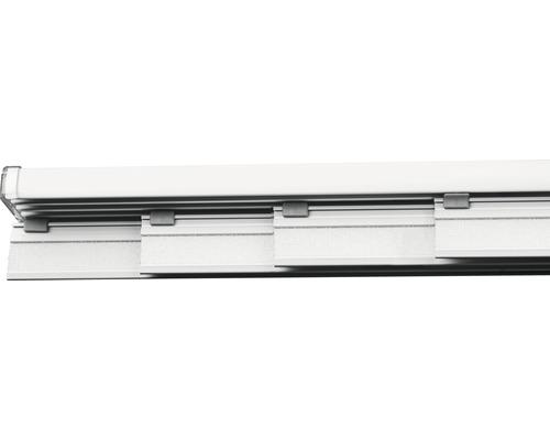 Rail pour panneau japonais kit complet quatre voies blanc 225cm