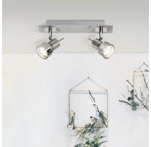 Spot de plafond LED 2x2,5W 2x240 lm 3000 K blanc chaud l 305 mm Kassandra fer/chrome/mat-thumb-1