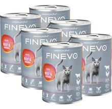 Katzenfutter nass Vitality FINEVO Rind und Huhn 6x400 g-thumb-0