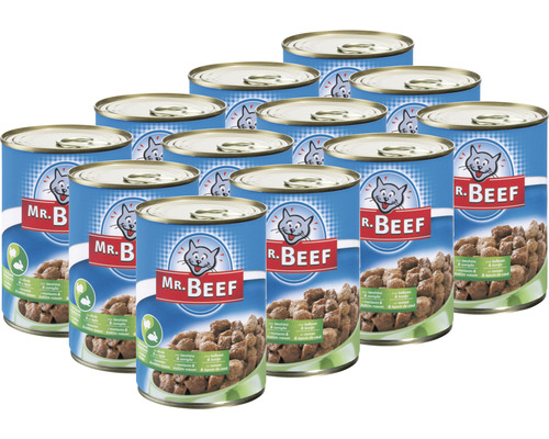 Nourriture pour chats humide MR. BEEF dinde et lapin 1 pack 12x400 g