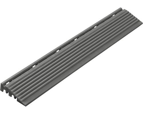 Partie latérale dalle à clipser 1.8x6.2 cm gris foncé 4-pièces