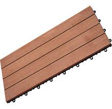 Dalle à clipser WPC 30 x 60 cm, brun-thumb-0