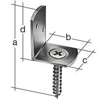 Équerre à visser pour panneaux 83x32x30mm, acier inoxyable, 1 pièce-thumb-2