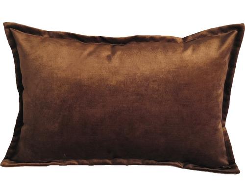 Kissen Samt cognac 40 x 60 cm