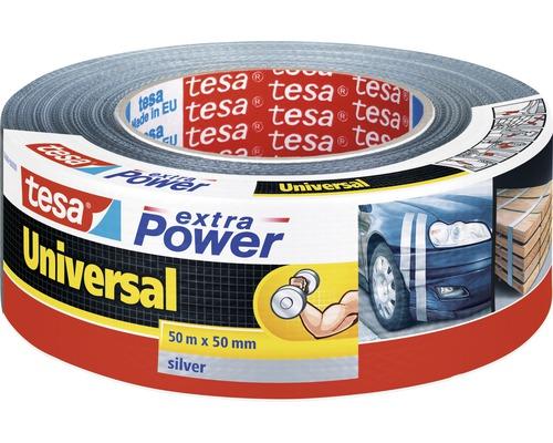 tesa extra Power Ruban de réparation universel argent 50m x 50mm