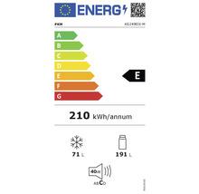 Réfrigérateur congélateur PKM KG249EIX-M lxhxp 55.00 x 180.00 x 56.00 cm compartiment de réfrigération 191 l compartiment de congélation 71 l-thumb-1