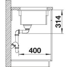 Évier BLANCO BLANCO ETAGON 500-U 525155 noir-thumb-4