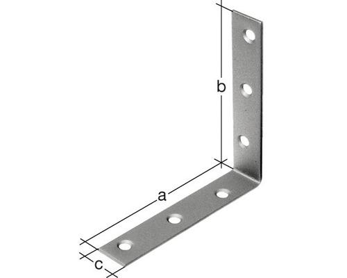 Cornière d'angle 100x100x20mm, acier inoxydable, 1 unité