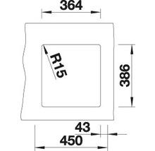 Évier à encastrer BLANCO SUBLINE 375-U magnolia brillant-thumb-2