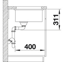 Évier à encastrer BLANCO SUBLINE 375-U noir-thumb-2