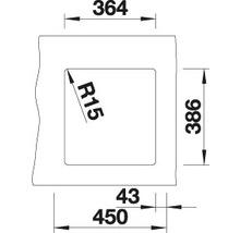 Évier à encastrer BLANCO SUBLINE 375-U noir-thumb-3