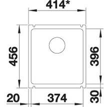 Évier à encastrer BLANCO SUBLINE 375-U noir-thumb-4