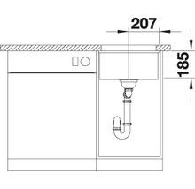 Évier à encastrer BLANCO SUBLINE 375-U noir-thumb-5