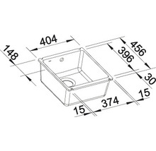 Évier à encastrer BLANCO SUBLINE 375-U noir-thumb-6
