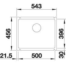 Évier à encastrer BLANCO SUBLINE 500-U basalte-thumb-3