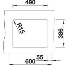 Évier à encastrer BLANCO SUBLINE 500-U basalte-thumb-4