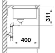 Évier à encastrer BLANCO SUBLINE 500-U basalte-thumb-6