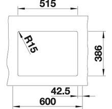 Évier à encastrer BLANCO SUBLINE 350/150-U blanc cristal-thumb-4