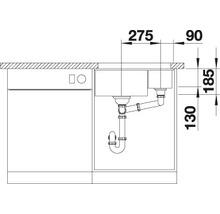 Évier à encastrer BLANCO SUBLINE 350/150-U blanc cristal-thumb-5