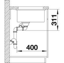 Évier à encastrer BLANCO SUBLINE 350/150-U blanc cristal-thumb-6