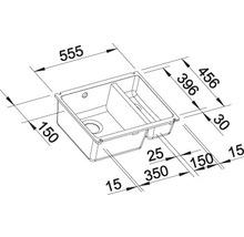 Évier à encastrer BLANCO SUBLINE 350/150-U blanc cristal-thumb-8