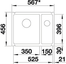 Évier à encastrer BLANCO SUBLINE 350/150-U magnolia-thumb-6