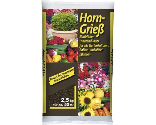 Corne broyée engrais naturel organique 2,5 kg pour env. 50 m2