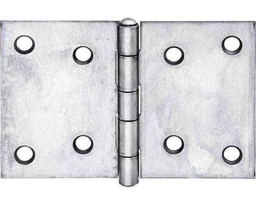 Charnière large avec une tige en acier inoxydable rivetée, 60x90mm, acier inoxydable