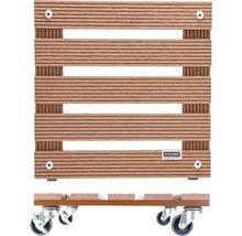 Chariot de plante bois composite 29x29 cm capacité de charge max. 80 kg marron-thumb-2