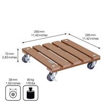 Chariot de plante bois composite 29x29 cm capacité de charge max. 80 kg marron-thumb-4