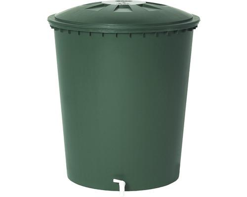 Récupérateur d''eau de pluie, rond avec couvercle, 510 litres