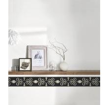 Frise autocollante vinyle ornement noir 5m x 15cm-thumb-1