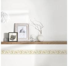 Frise autocollante vinyle ornement crème/or 5m x 8cm-thumb-1