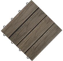 Dalle à clipser structure bois WPC 3D marron-thumb-3