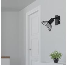 Spot mural FLAIR 1 ampoule métal noir-thumb-0