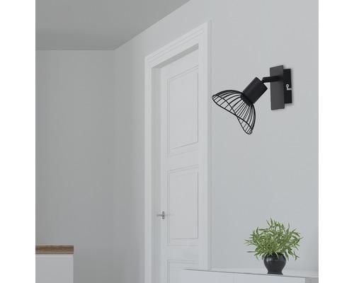 Spot mural FLAIR 1 ampoule métal noir-0