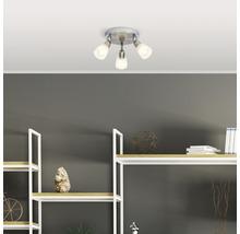 Spot de plafond LED 3x3W 3x250 lm 3000 K blanc chaud Ø 190 mm Bethany nickel/chrome-thumb-3