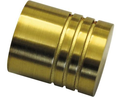 Embout Chicago Cylindre laiton maté Ø 20 mm, lot de 2