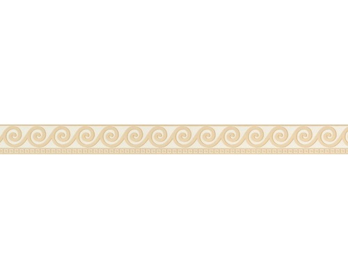 Frise autocollante Vague beige 5 m x 5 cm