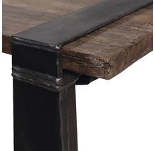 Piètement de table VEBA Old Dutch pieds de table en forme de U bois 220 x 80 cm marron-thumb-7