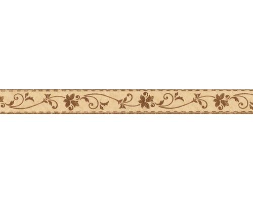 Frise autocollante Rameaux de fleurs brun 5 m x 5 cm
