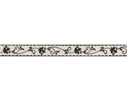 Frise autocollante Rameaux de fleurs noir 5 m x 5 cm