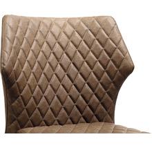 Chaise gastro VEBA Louis acier marron-thumb-1