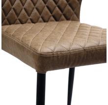 Chaise gastro VEBA Louis acier marron-thumb-2
