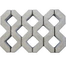 Pflasterstein Rasengitter Beton grau 60 x 40 x 8 cm-thumb-1