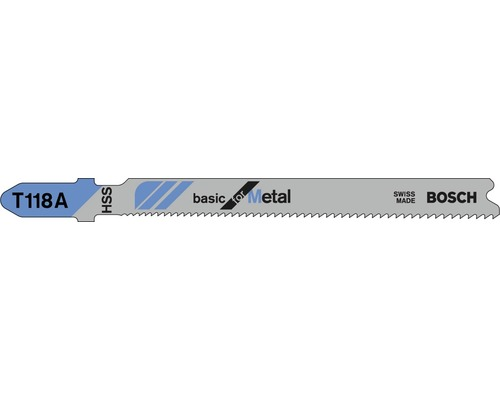 Lame de scie sauteuse Bosch T 118 A pack de 5