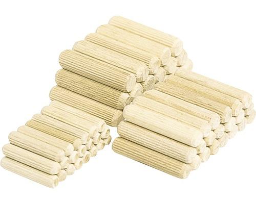 Chevilles en bois longues Wolfcraft Ø 6mm, lot de 200