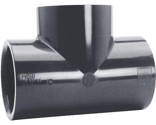 Raccord en T PVC Ø 50mm 90°